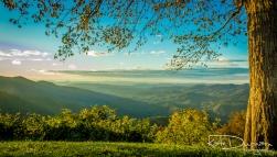 Sunrise Blueridge Mountains